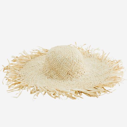 Corn Husk Hat with Fringes