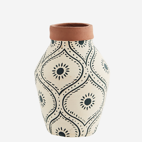 Terracotta Hand-painted Vase