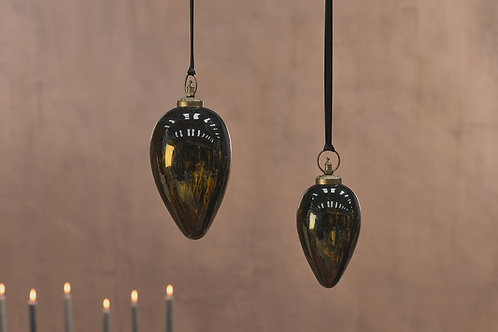 Danoa Giant Bauble Drop Aged Amber and Black