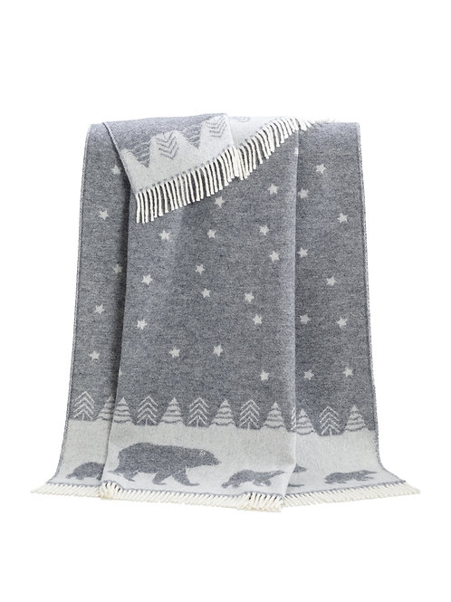 J J Textile Polar Bear Moon Throw