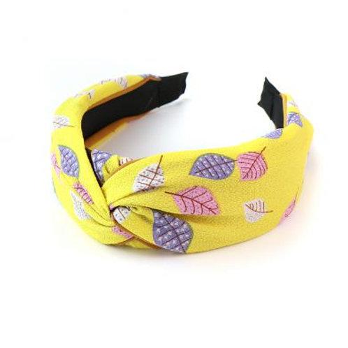 Yellow mix leaf hairband
