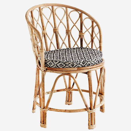 Bamboo chair with chair pad