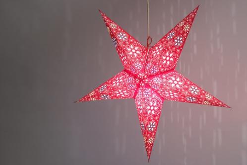 Firework Red Paper Star Light