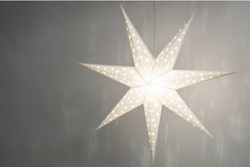 North Star Brilliant White Paper Star Light