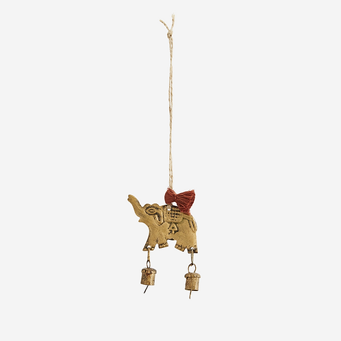 Hanging elephant decoration with bells