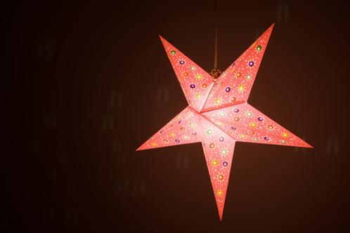 Fiesta Pink Paper Star Light
