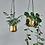 Thumbnail: Atsu Brass Hanging Planter