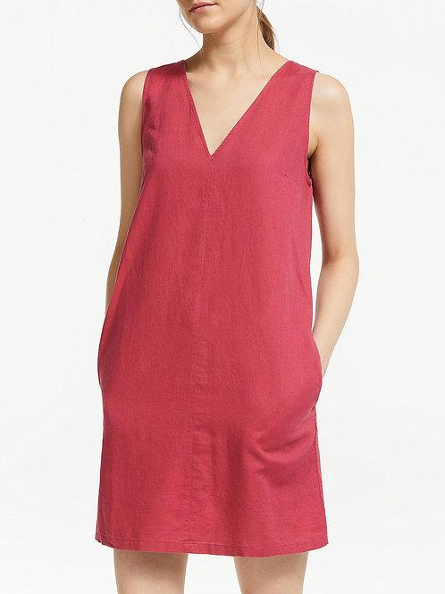 Great Plains Dana Blend V Neck Dress in Earth Red