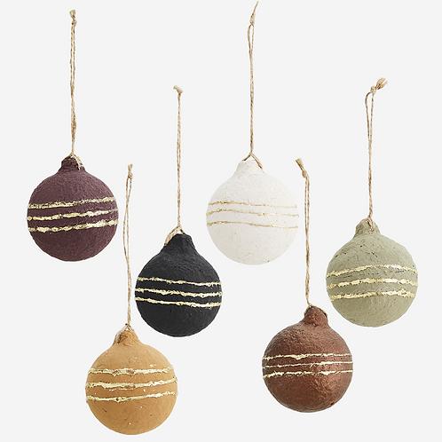 Hanging cotton paper balls decoration