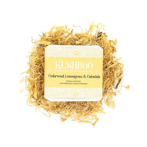 Cedarwood Lemongrass and Oatmeal Kushboo Soap