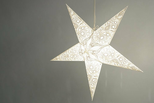 Deluxe Lace Ivory Paper Star Light