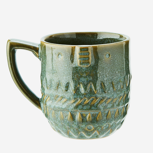 Stoneware Mug with Face Imprint