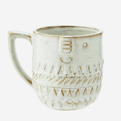Stoneware Mug with Face Imprint