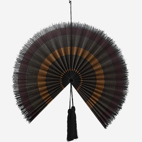Bamboo fan with tassels