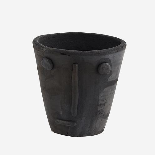 Handmade Clay Flowerpot with Face Imprint