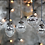 Thumbnail: SNOW DROP BAUBLES - SILVER CRACKLE - x 4