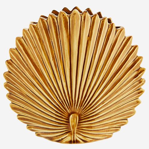 Stoneware Leaf Vase