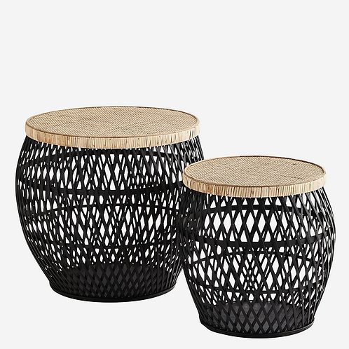 Rattan Coffee Tables with Removable Lids (Set of Two)