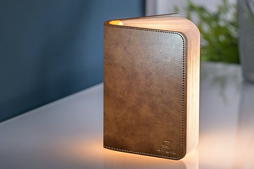 Mini Brown Leather Book Light