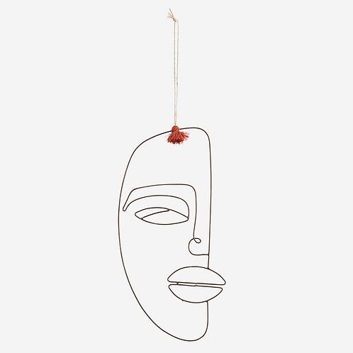 Hanging iron face decoration