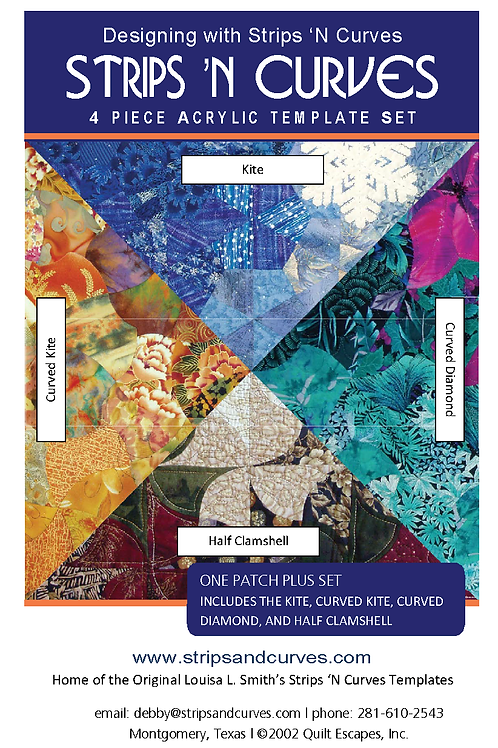 Louisa Smith Strips 'n Curves One Patch Plus Templates, strip piecing