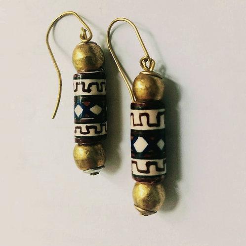 Peruvian cylinder earrings