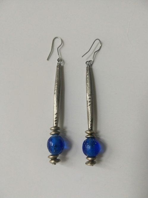 Tuareg metal and blue glass