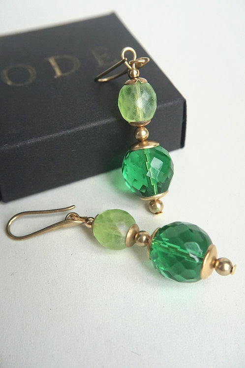 Green chandeliers