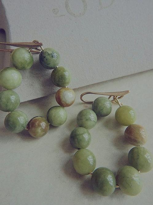 Jade hoops medium