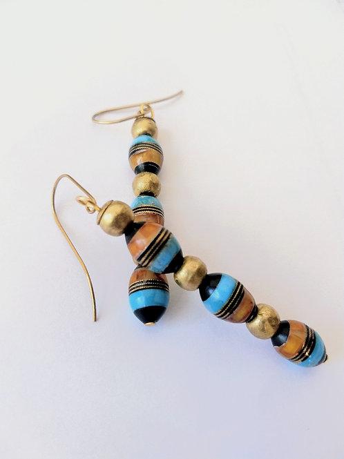 Long Middle Eastern prayer bread earrings