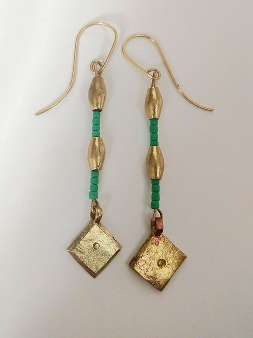Sleek Jade earrings