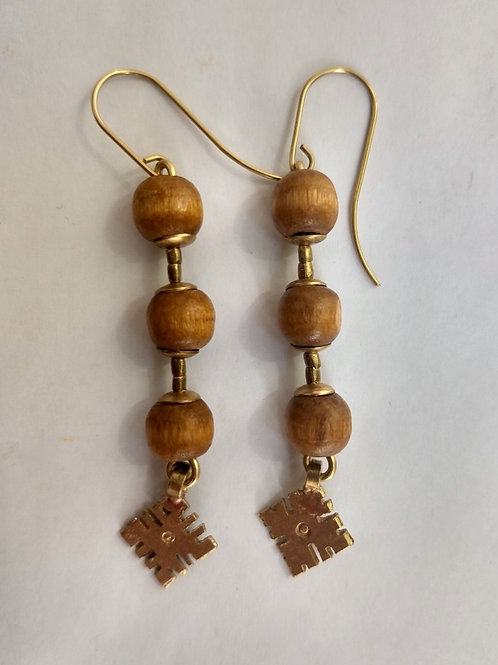 Separated Egyptian beads with coptic cross