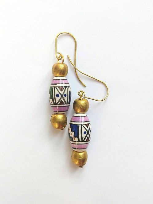 Peruvian ceramic and Ethiopian brass