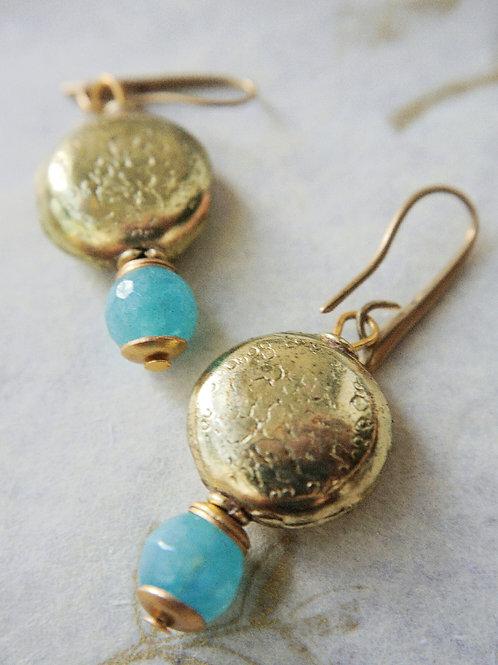 Brass and quartz