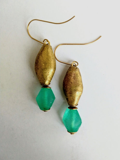 Cameroonian brass and glass