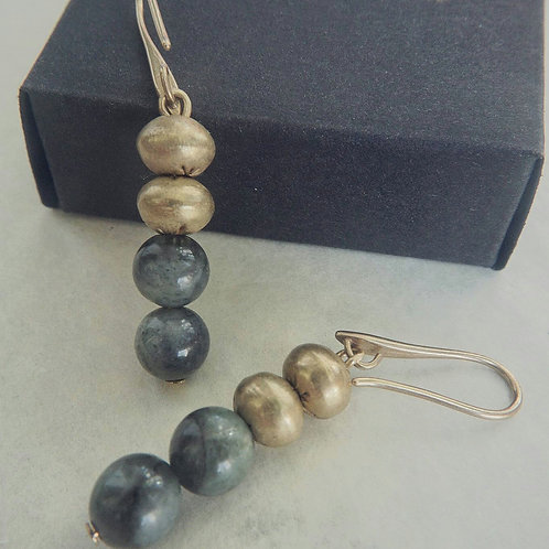 Labradorite and brass