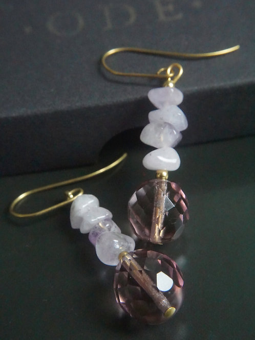 Amethyst and glass