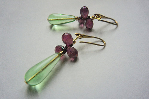 Green and purple glass