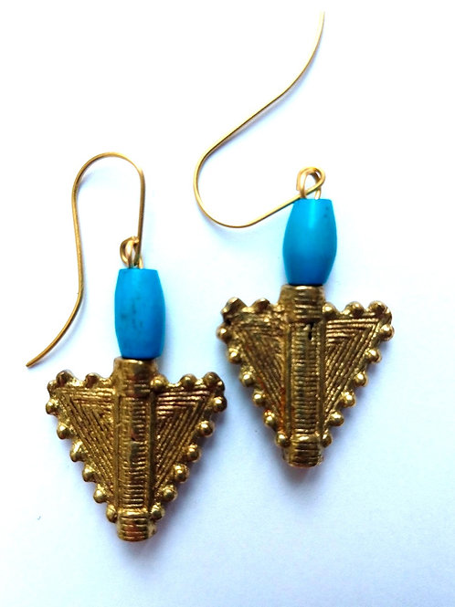 Blue and Brass Triangle