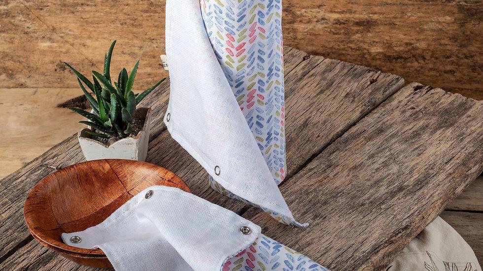 Toallas de cocina reusables con broches metálicos (X10)