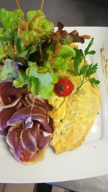 Tarditionnelle omelette