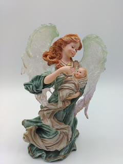 Guardian angel with a baby
