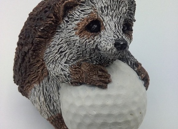 Thistle with golf ball
