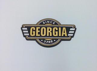 Georgia Badge Plate