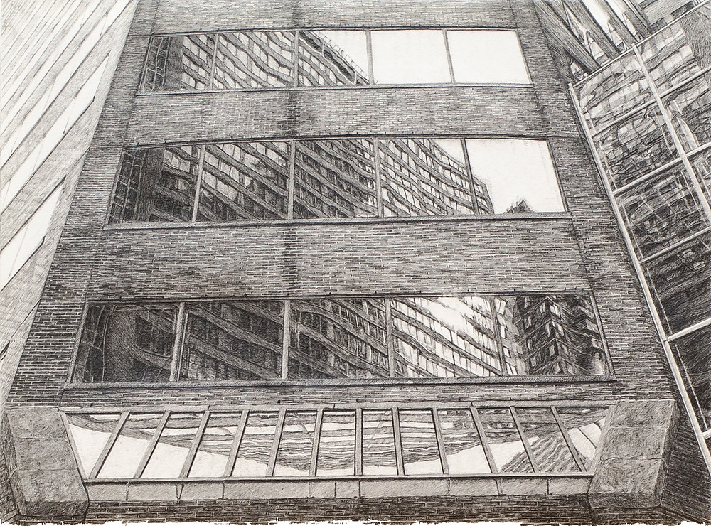 Fold-Up Template, graphite on paper, 2012