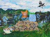 6. Cat of a Different Color - Collage -