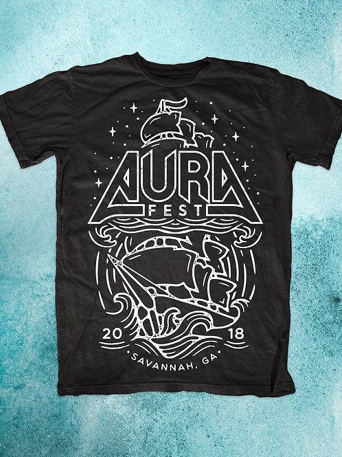 AURA Fest 2018 Black T Shirt