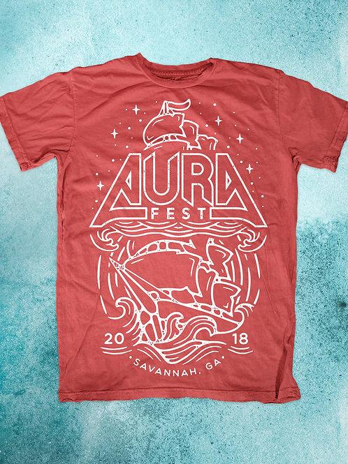AURA Fest 2018 Red T Shirt