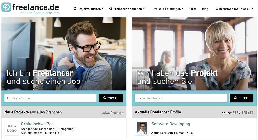 Interim Manager online mit freelance.de finden