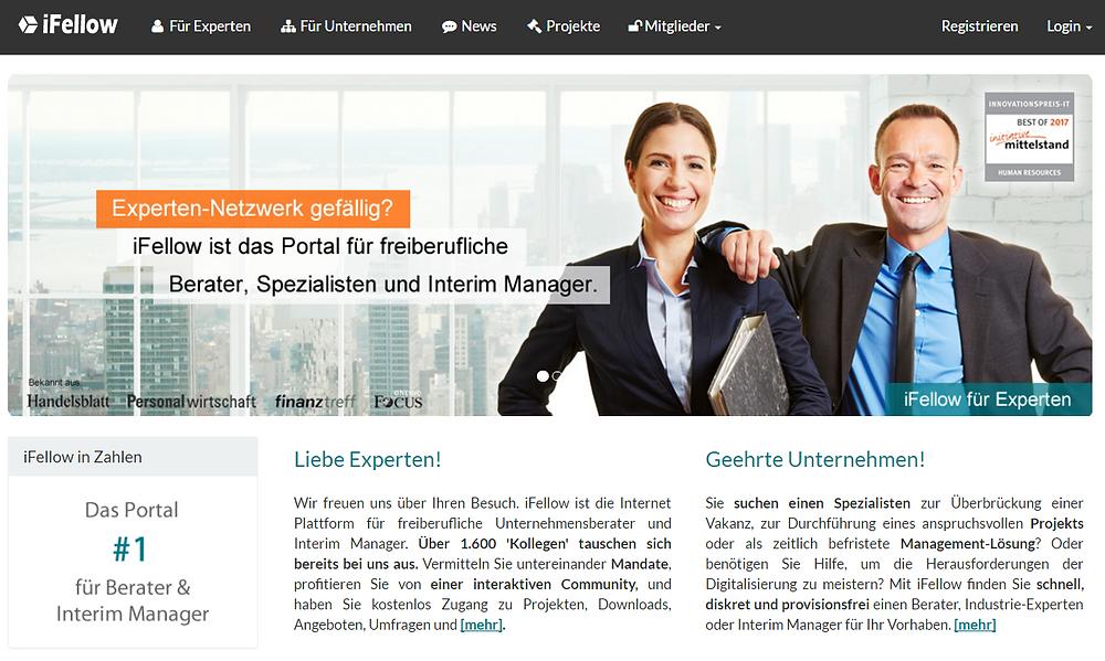 Interim Manager online mit iFellow finden